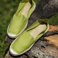 Эспадрильи мужские зелёного цвета купить фото