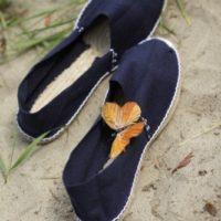 Тёмно-синие женские эспадрильи купить фото