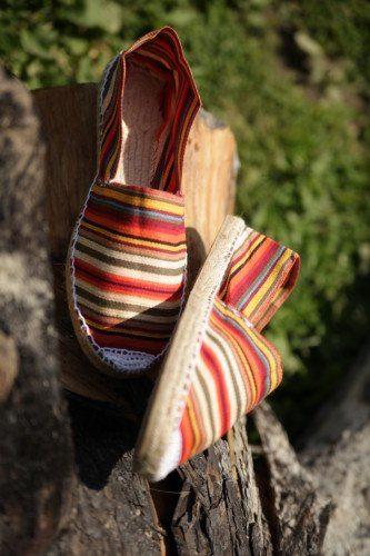 Купить женские эспадрильи с восточным полосатым принтом фото