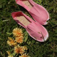 Светло-розовые женские эспадрильи фото