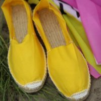 Купить эспадрильи жёлтые фото