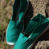 Зелёные мужские эспадрильи из Испании купить фото