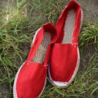 Купить красные женские эспадрильи фото