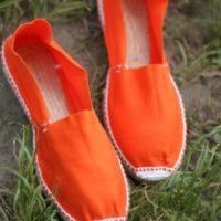Оранжевые женские эспадрильи купить фото