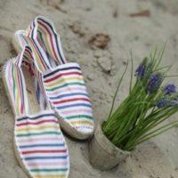 Купить эспадрильи женские полосатые фото