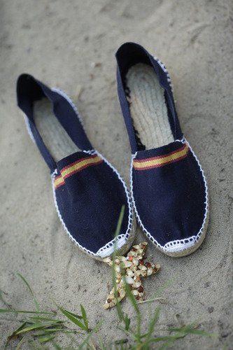 Тёмно-синие испанские женские эспадрильи купить с доставкой по Москве фото