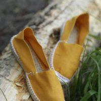 Купить янтарные женские эспадрильи фото